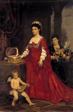 Adelina Patti Friedrich Karl Steinhardt, circa 1870s.