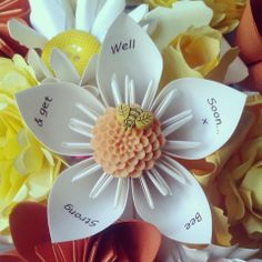www.flairforfleur.co.uk affordable paper floral arrangements. Personalised origami paper bouquet. flair for fleur
