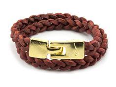 UKUM - Pulsera FIORA R-411 ROJO Belt, Bracelets, Leather, Accessories, Jewelry, Fashion, Red, Bracelet, Belts