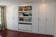 IKEA Hackers: wardrobe - this is a great way of making cheap built in storage