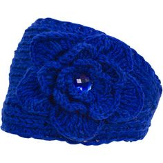 Magid Headwrap with Flower & Rhinestone, Royal