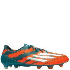 adidas Messi Mirosar10 10.1 FG Power Teal/Core White/Solar Orange Firm Ground Soccer Cleats - model B44261