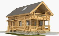 Лучший дом блог компании Бизнес-строй: Проект дома из оцилиндрованного бревна 97 м2Общая ...