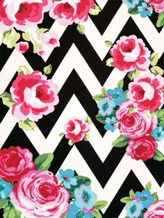 Free floral and chevron printables for wrapping paper, scrapbooking, etc.