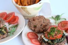 Vegetarischer Low Carb Burger mit Süßkartoffelpommes - Lachfoodies Low Carb Lifestyle