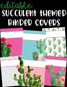 Customize your binders with these cute succulent themed binder covers! There are 9 styles to choose from and each one is included with 5 different backgrounds. There are a total of 45 editable binder covers included! Have fun customizing!****Powerpoint Required for Editing****