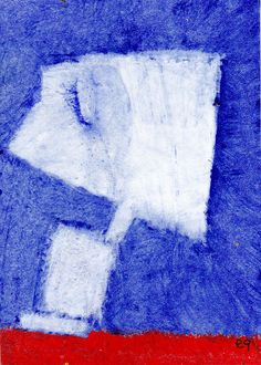 in praise of the night e9Art ACEO Outsider Art Brut Abstract Figurative Painting Intuitive Visionary