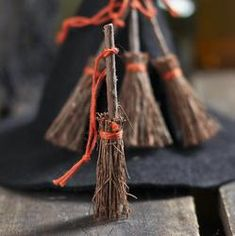 Miniature brooms 4 for 1.99. Can we make these?