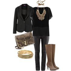 Black & Taupe - Plus Size #plus #size