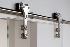 Mordern Stainless Steel BarnDoor Hardware for SLIDING GLASS SHOWER DOOR modern interior doors