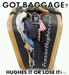 I want to be straight up with you... I don't have any #baggage and I am the coolest person you will ever #date. Is it really possible for someone not to have baggage? -Hughes it or Lose it?