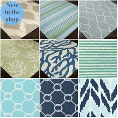 New coastal rugs in the shop