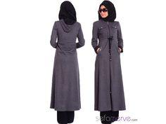 Tesettür Ferace 0439A-01 Gri #sefamerve #tesetturgiyim #tesettur #hijab #tesettür