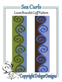 Sea Curls - Loom Bracelet Cuff Pattern