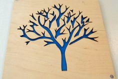 Plywood Tree and Recycled Aluminum by mannmadedesigns on Etsy