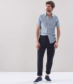 Big Homme RAEL BROOK classique plaine chemise à manches courtes violet 18,5 23 col