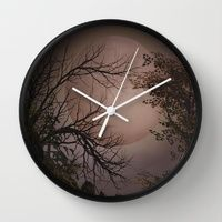 Wall Clock featuring Spooky Night  by gypsykissphotography