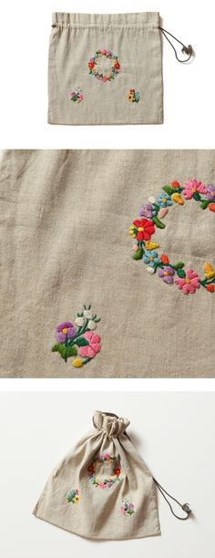 embroidered pouch