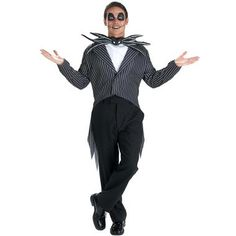 This Jack Skellington Teen Costume is just like the one from the movie, The Nightmare Before Christmas. It includes a jacket, an ascot and a batty bow tie. Please note that pants, shoes and makeup are                                                                                                                                                                                 More