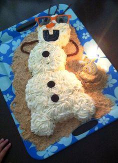 Frozen's Olaf Cake.