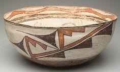 Zuni Pottery : Native American Zuni Bowl 34