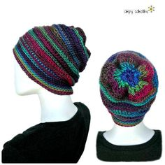 Penelope's Whimsical Floral Slouch Hat free crochet pattern and tutorial by Simply Collectible Crochet -- Makes for a lovely, soft, and light chemo hat. #fashion #diy #crochet #gifts #creations