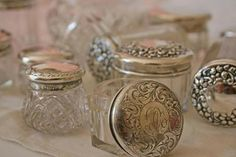 Sterling topped jars...<3