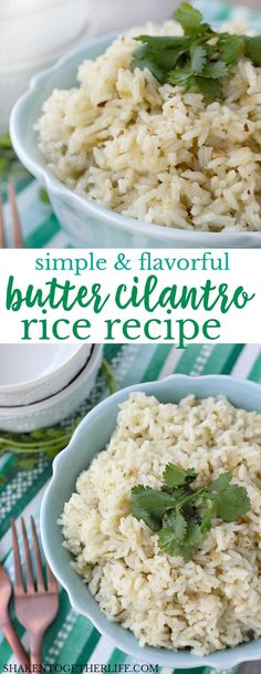 Simple and flavorful, this Butter Cilantro Rice recipe is the perfect side dish for your Cinco de Mayo menu or any weeknight meal!