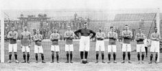 "1905: CHELSEA team photo with, in the goal, WILLIAM ""Fatty"" FOULKE..."