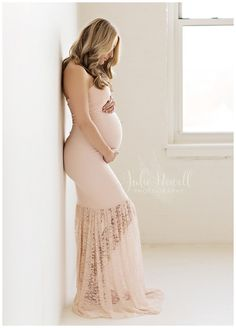 Marilyn Gown - Hand Made Lace Mermaid Style Sweetheart Maternity Gown