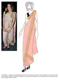 #DIY Pink #Dhoti Style #Drapes