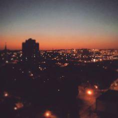 Da janela lateral do quarto de dormir...  #sunset #ribeirãopreto