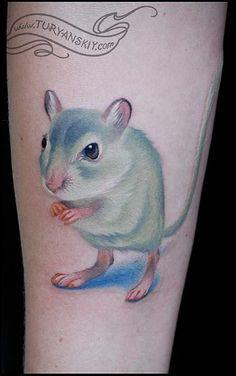 É na verdade um gerbil. Hamster tattoo - Busca de Google