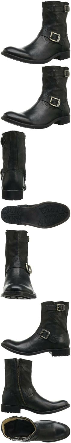 FRYE Men's Jackson Boot, Black, 8.5 M US, The Frye Company is the oldest continuously operated shoe company in the United States. Founded in 1863 by John A. Frye, a well-to-do shoemaker from England, and family-run until 1945, Frye products h..., #Apparel, #Boots