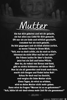 (notitle) - Love you mom - Motivational Quotes, Funny Quotes, Quotes Positive, Mother Poems, German Quotes, Mothers Day Quotes, Love You Mom, Quotes By Famous People, Romantic Love Quotes