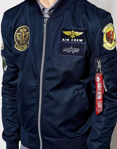 9af0c3c2819 Alpha Industries Bomber Jacket with Patches EXCLUSIVE at asos.com