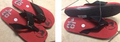 NEW with Tags Zero Xposur Size 10-11 Medium Mens Black/Red/White No. 18 Flip Flops Thongs Sandals $14