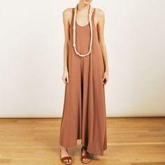 alexander wang long nude dress