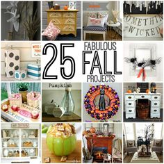 25 Fabulous Fall Projects-- so much inspiration in this post! | JustAGirlAndHerBlog.com