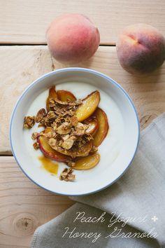 Peach Yogurt with Honey Granola