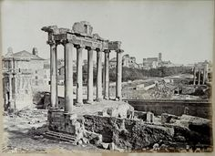 Rome, the Forum and the Temple of Saturno