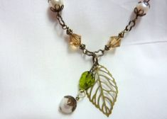 Ladies Necklace Beaded Necklace Antique by JulieButlerCreations, $13.50