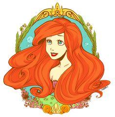 co: Ariel by ~Momo-Deary on deviantART
