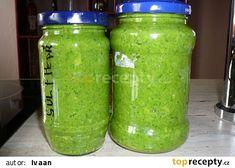 Česnekové pesto z výhonků Home Canning, Pickles, Cucumber, Mason Jars, Yummy Food, Pasta, Baking, Recipes, Delicious Food