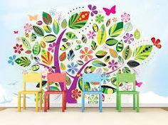 Αποτέλεσμα εικόνας για ταπετσαριες παιδικες τοιχου