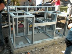 unfinished cabinet base for built in BBQ GRILL   How to Build a Double-Grill Island : How-To : DIY Network