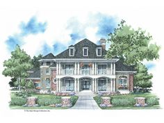 Eplans Plantation House Plan - Classic Plantation Style - 3613 Square Feet and 4 Bedrooms from Eplans - House Plan Code HWEPL08704. Dream home