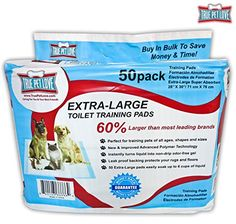 Be Quick 50 XL Wee Wee Pads True Pet Love Training Pads Puppy Dog Potty Training Housebreaking Pads 28x30 XL Potty Pads Small To Large Dogs Extra Large Training Pads -- To view further for this item, visit the image link. This is an Amazon Affiliate links.