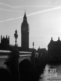 View of Big Ben from Across the Westminster Bridge Photographic Print by Jack Hollingsworth at Art.com