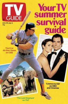 Your TV summer survival guide Licence To Kill, Tv Land, Old Tv Shows, Vintage Tv, Tv Guide, Classic Tv, Survival Guide, 1990s, Nostalgia